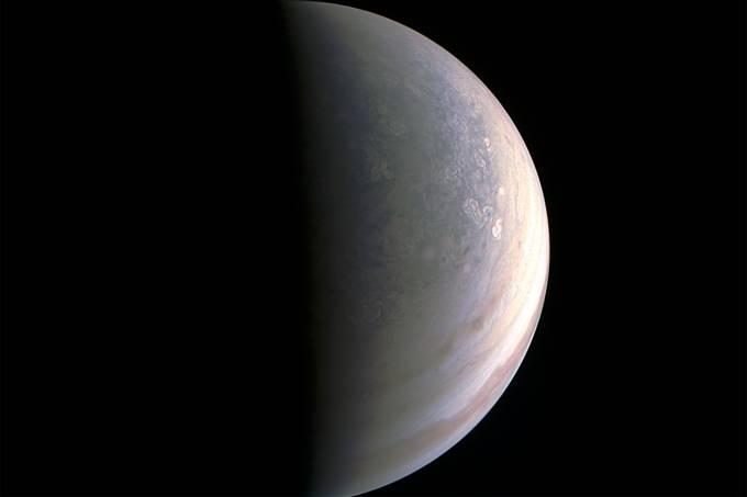 Pólo norte de Júpiter