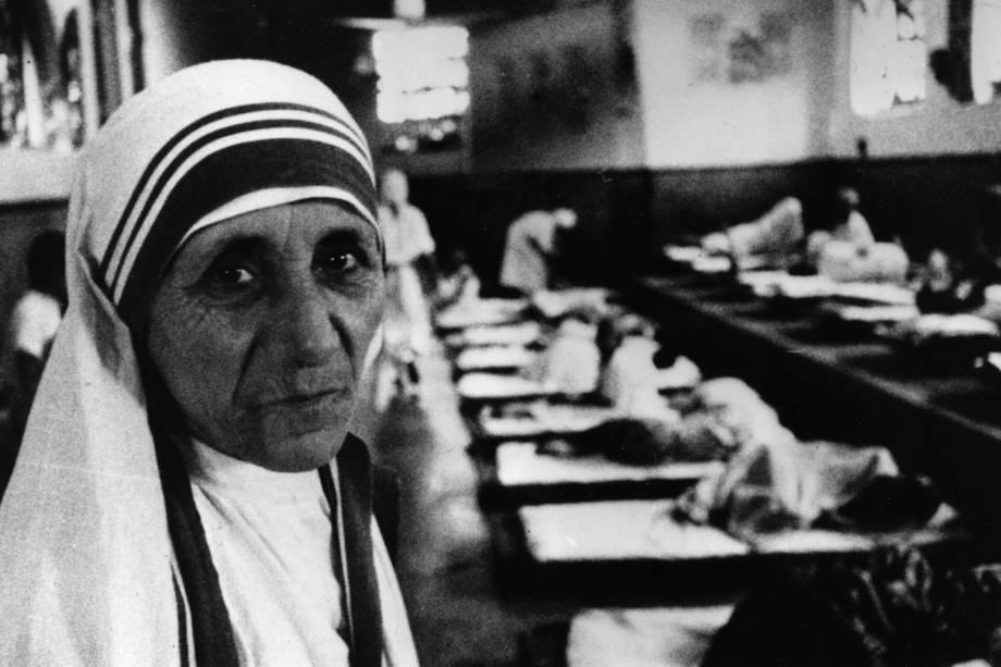 Madre Teresa de Calcutá é vista em hospital de caridade - 08/07/1981