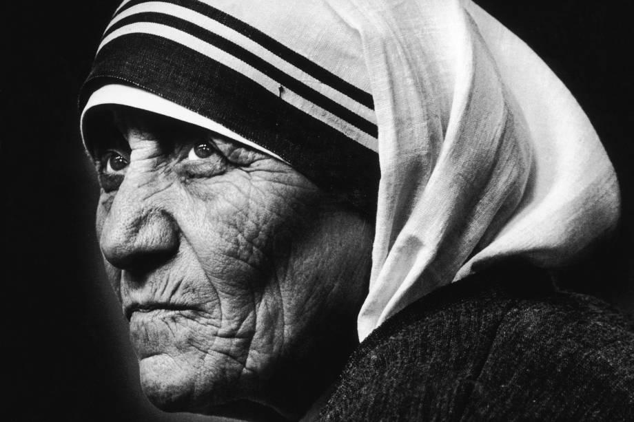 Madre Teresa de Calcutá visita a igreja de São Tiago, em Piccadilly, em Londres - 08/07/1981