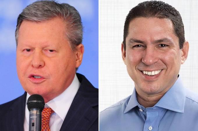 Os candidatos à Prefeitura de Manaus, Arthur Virgilio Neto (PSDB) e Marcelo Ramos (PR).