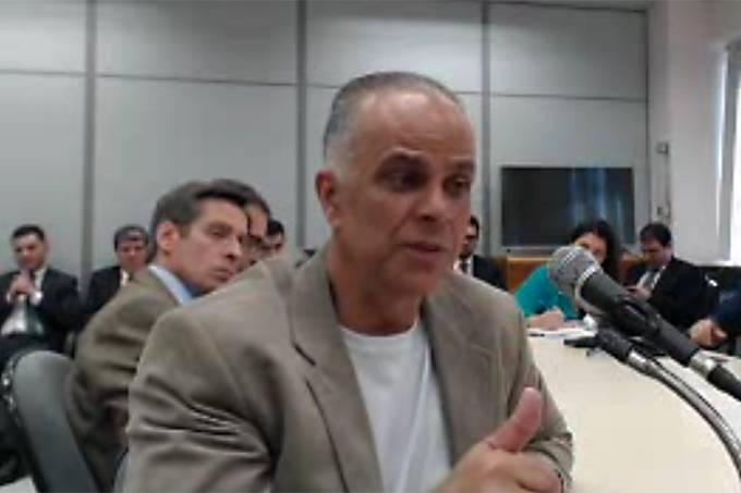 O empresário Marcos Valério presta esclarecimentos durante audiência realizada em Curitiba