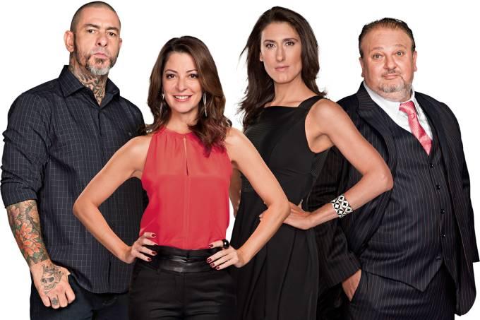 Masterchef: Henrique Fogaça, Ana Paula Padrão, Paola Carosella e Erick Jacquin