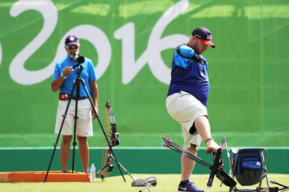 O Arqueiro Matt Stutzman, sem braços vai ao Sambódromo em busca da segunda medalha paralímpica - 14/09/2016