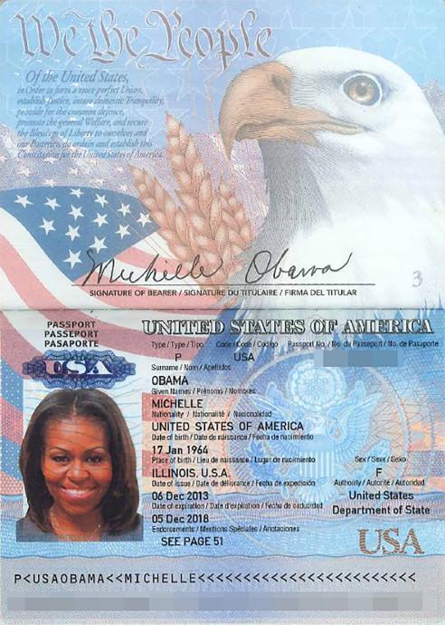 Imagem do passaporte de Michelle Obama: Casa Branca não confirmou nem desmentiu a autenticidade