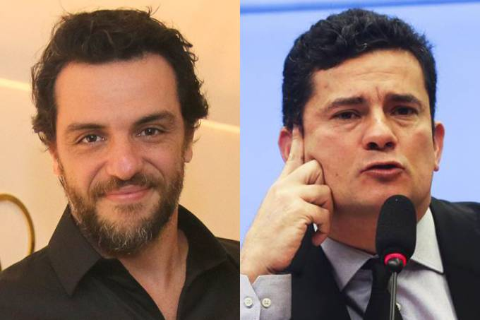 O ator Rodrigo Lombardi e o juiz Sérgio Moro