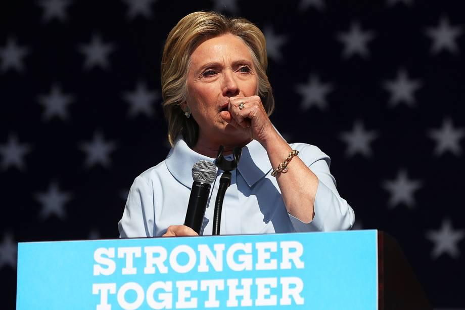 A candidata democrata à presidência dos Estados Unidos, Hillary Clinton, faz campanha em Luke Easter Park, na cidade de Cleveland - 05/09/2016