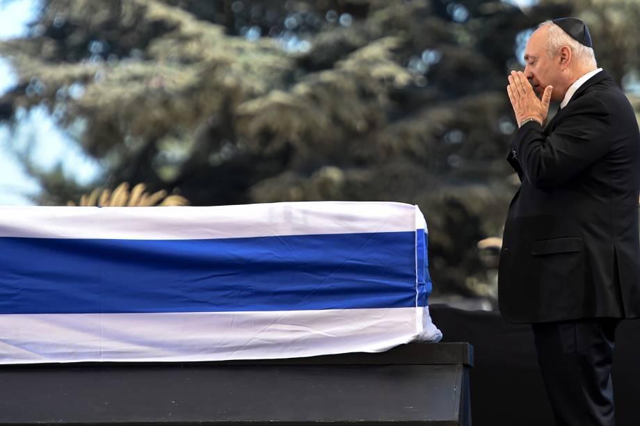 Chemi Peres, filho do ex-presidente israelense Shimon Peres, participa de funeral no Monte Herzl, em Jerusalém - 30/09/2016