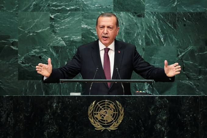 Tayyip Erdogan discursa em assembleia da ONU