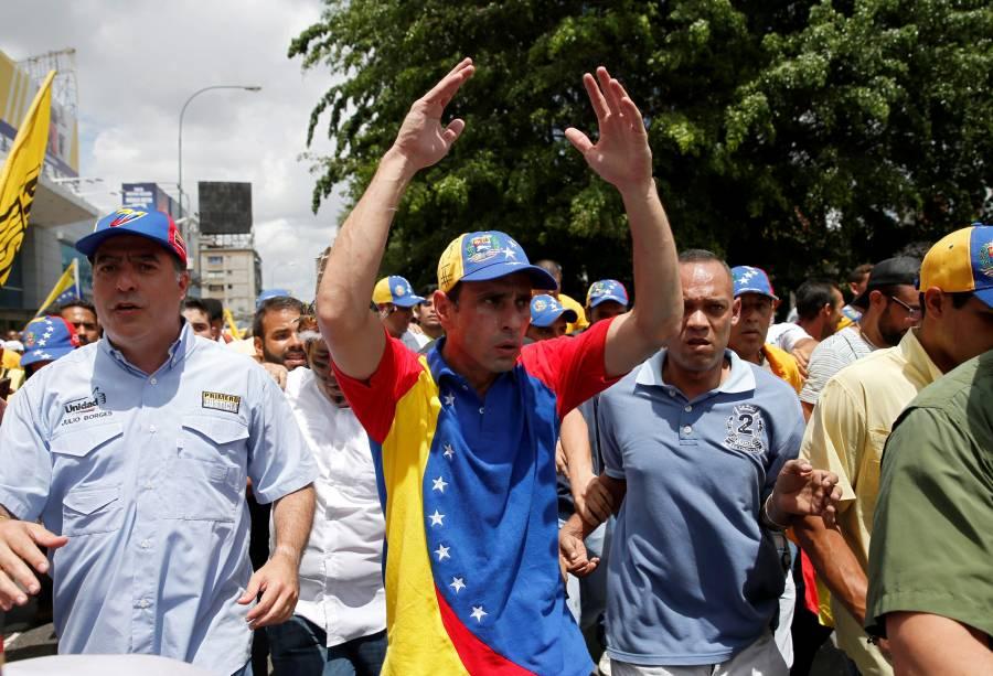 Henrique Capriles, governador do estado venezuelano de Miranda, participa de marcha contra Nicolás Maduro - 01/09/2016