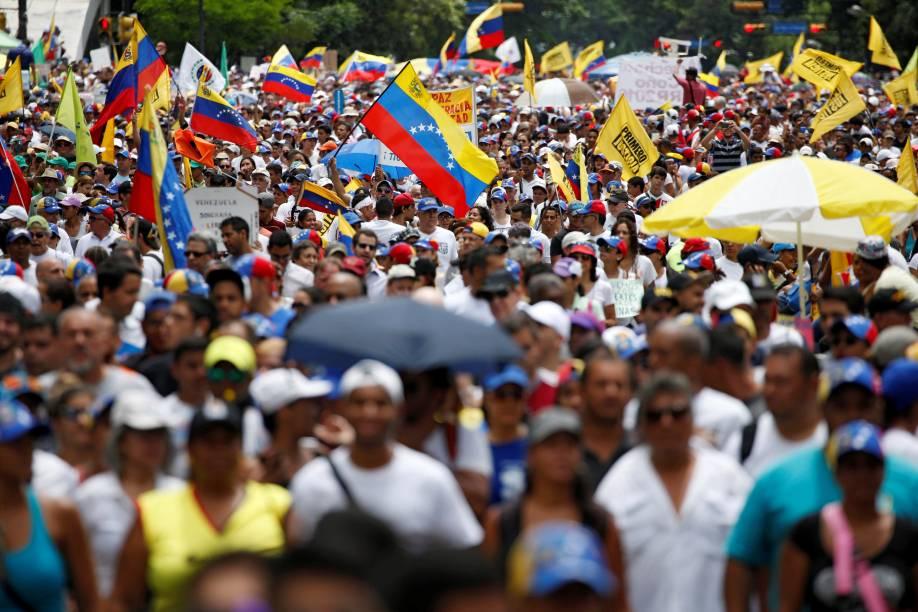 Manifestação contra o presidente Nicolás Maduro, em Caracas, Venezuela - 01/09/2016