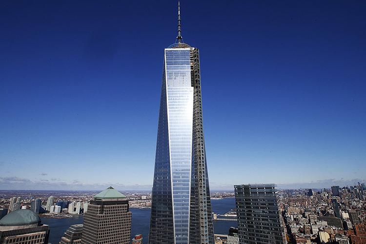 Torre 1 do World Trade Center é vista do 57º andar da Torre 4, na Ilha de Manhattan, em Nova York - 08/11/2013
