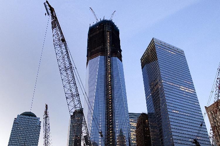 Vista da torre principal do novo World Trade Center, na ilha de Manhattan, em Nova York