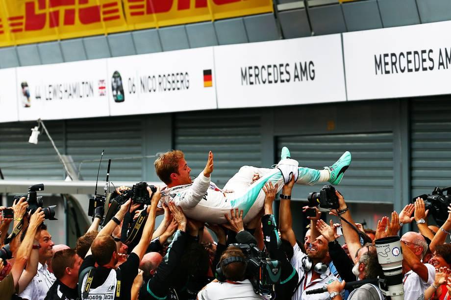 Nico Rosberg venceu neste domingo o GP da Itália, em Monza