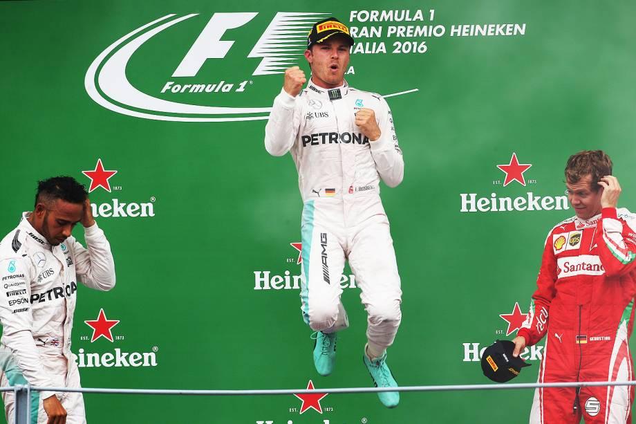 O alemão Nico Rosberg (Mercedes) conquistou o Grande Prêmio da Itália de Fórmula 1 - 0309/2016