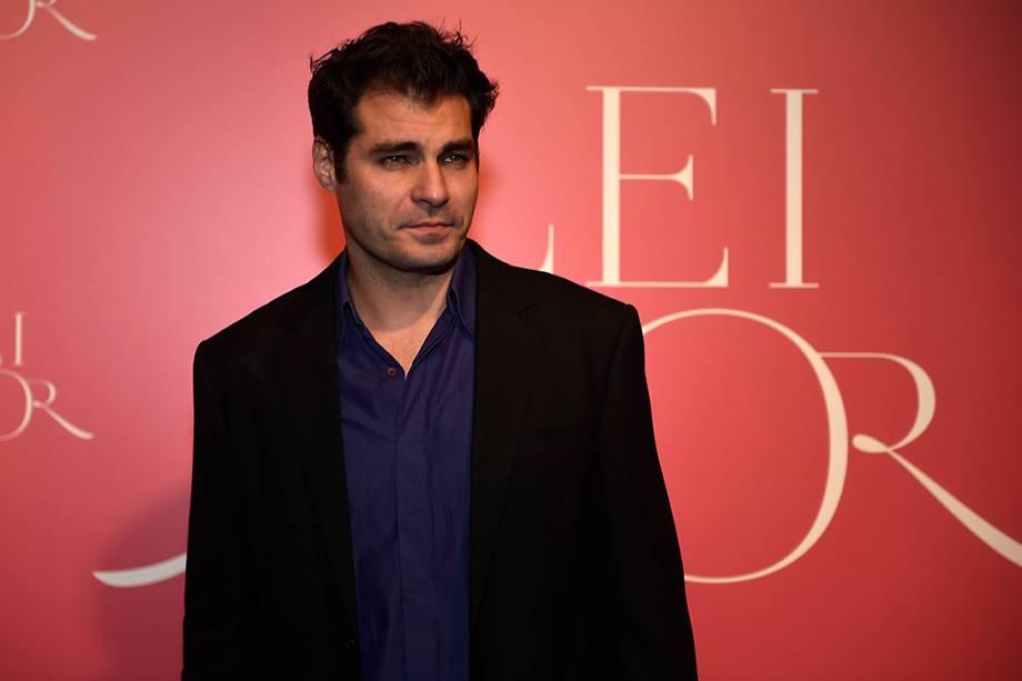 O ator Thiago Lacerda, durante a festa de lançamento da novela 'A Lei do Amor'