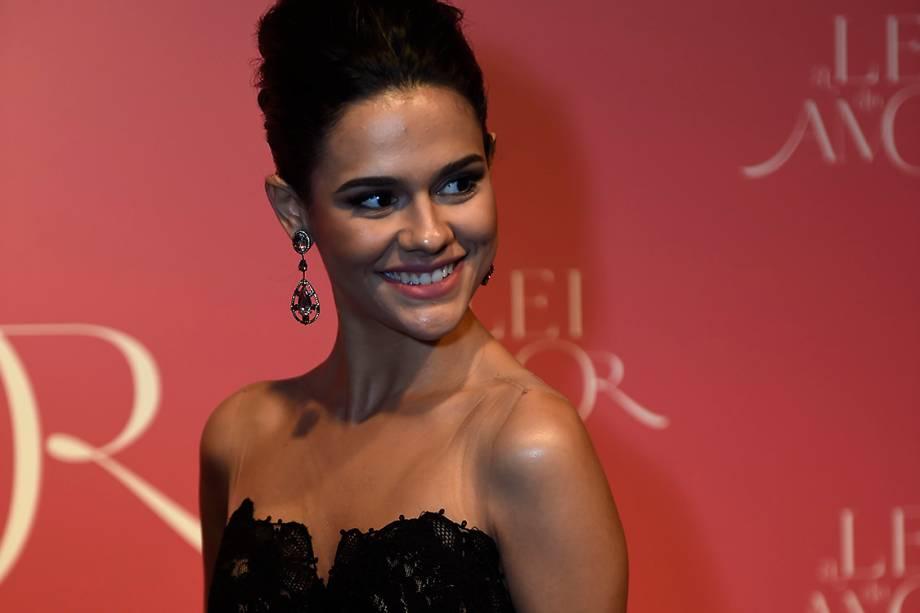 A atriz Arianne Botelho, durante a festa de lançamento da novela 'A Lei do Amor'