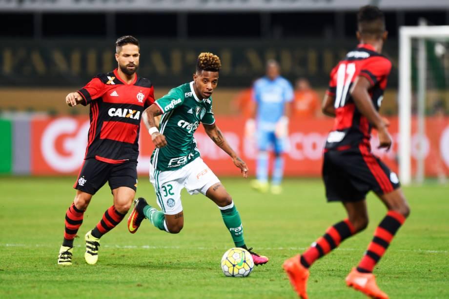 Partida entre Palmeiras e Flamengo, válida pelo 25ª rodada do Campeonato Brasileiro de Futebol 2016, no Allianz Parque (Arena Palestra Itália), em São Paulo (SP)