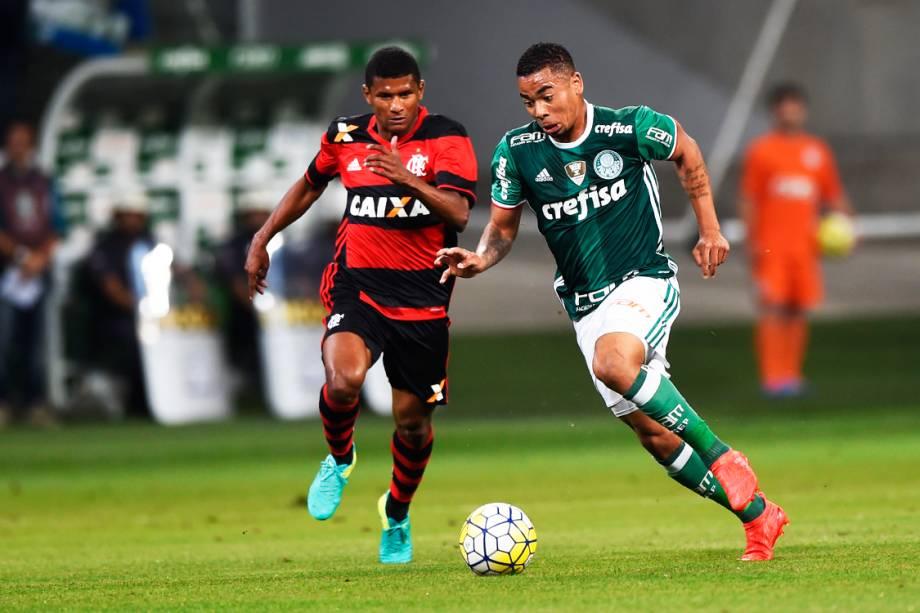 Partida entre Palmeiras e Flamengo, válida pelo 25ª rodada do Campeonato Brasileiro de Futebol 2016, no Allianz Parque (Arena Palestra Itália), em São Paulo (SP) - 14-09-2016