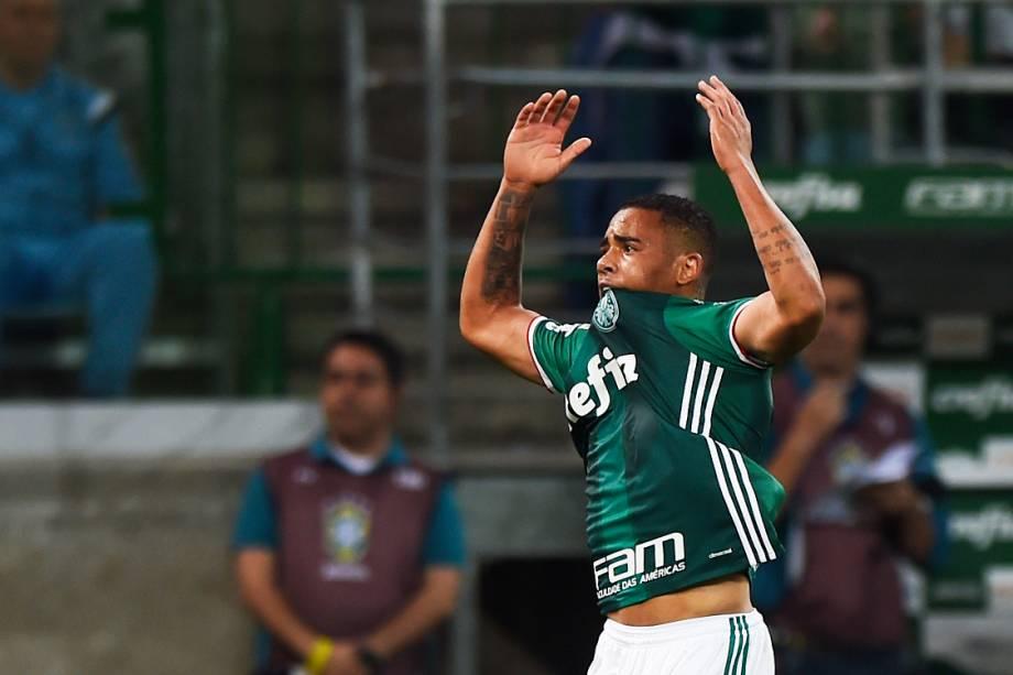 Gol de Gabriel Jesus do Palmeiras contra o Flamengo, válida pelo 25ª rodada do Campeonato Brasileiro de Futebol 2016, no Allianz Parque (Arena Palestra Itália), em São Paulo (SP) - 14-09-2016