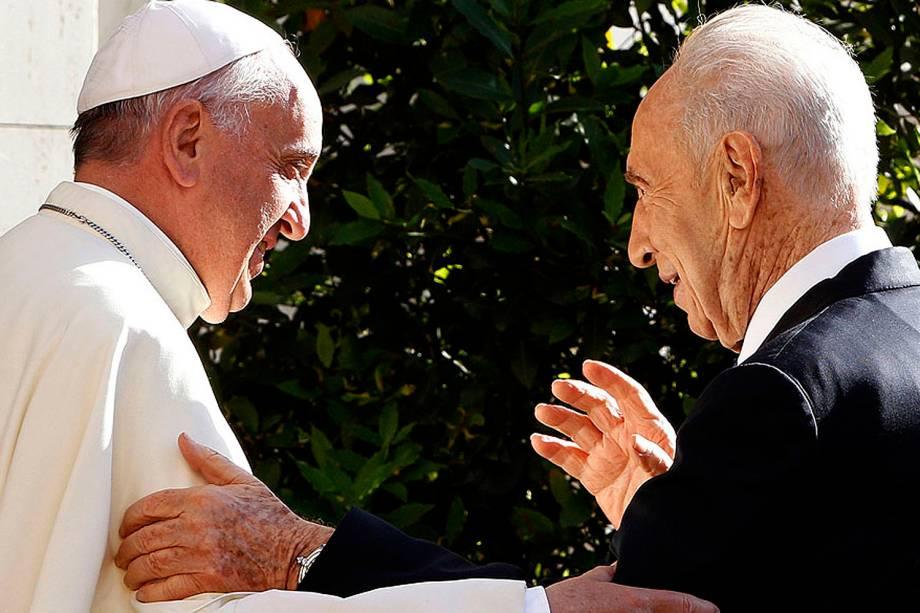 O Papa Francisco recebeu no Vaticano o presidente de Israel, Shimon Peres