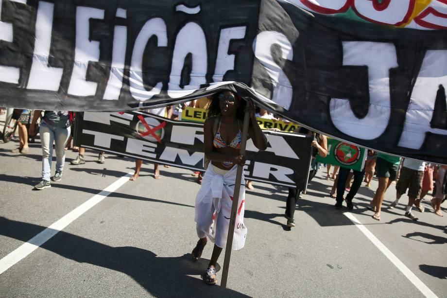Protesto contra o governo de Michel Temer no Rio de Janeiro - 04/09/2016