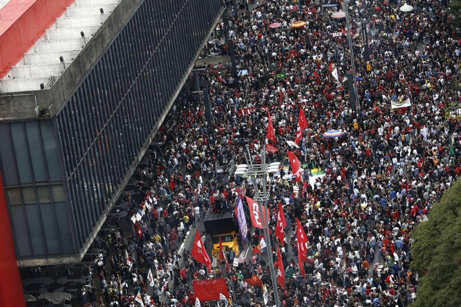 Manifestação contra o governo do presidente Michel Temer na avenida Paulista (SP) - 04/09/2016