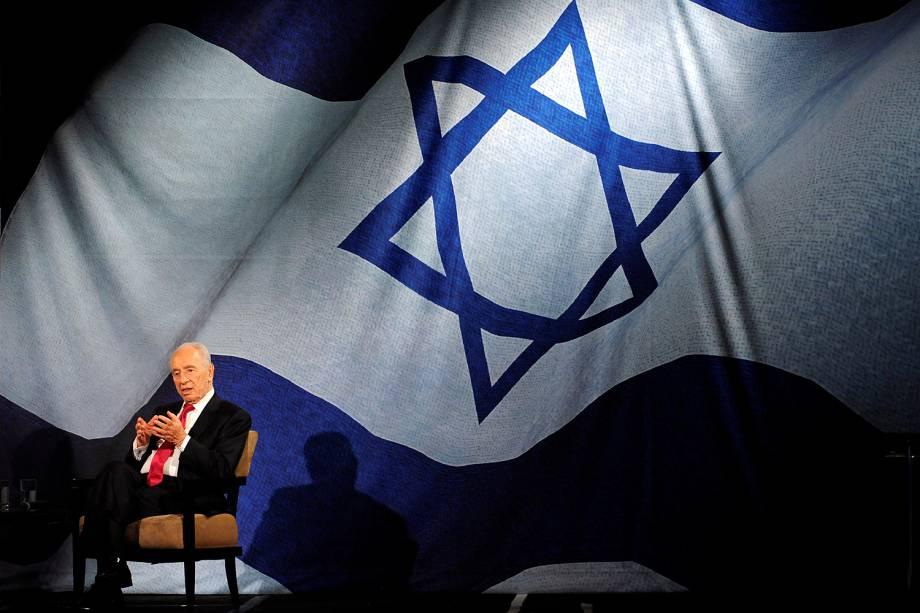 O ex-presidente israelense e Prêmio Nobel da Paz Shimon Peres