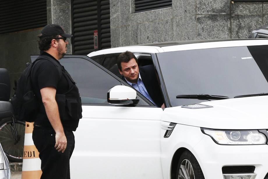 """Wesley Batista, presidente global da JBS, deixa a sede da Policia Federal em São Paulo durante nova operação chamada de """"Operação Greenfield"""" - 05/09/2016"""