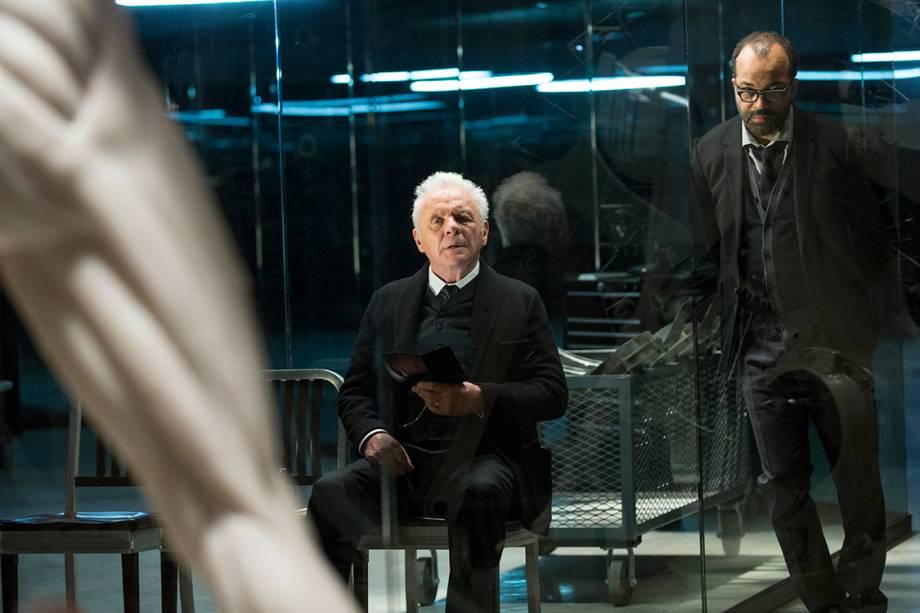 O ator Anthony Hopkins em cena da série da HBO 'Westworld'