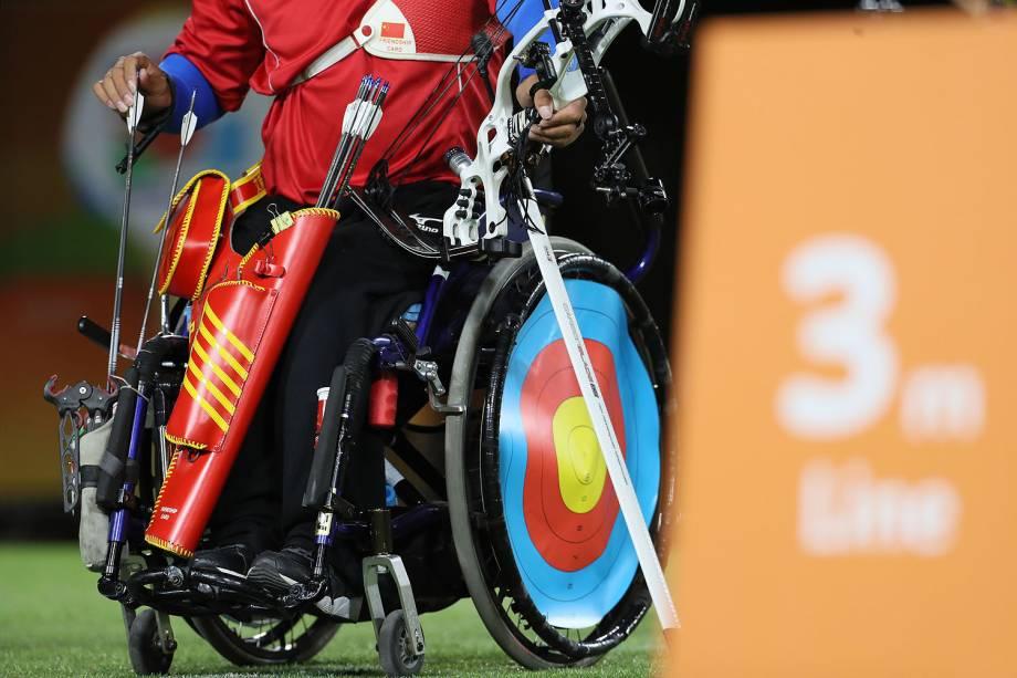 Atletas durante a competição no Tiro com Arco Paralímpico, no Sambódromo, no Rio de Janeiro - 14/09/2016