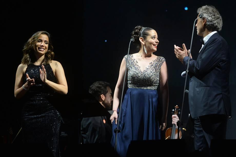 Compositor e cantor Andrea Bocelli se apresenta em São Paulo, no Allianz Parque, com participação de Anitta