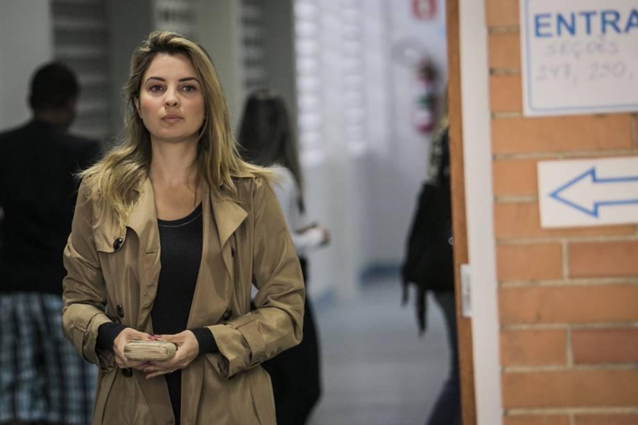 A primeira-dama Marcela Temer votou no início do dia, no Colégio Rainha da Paz, Alto de Pinheiros, zona oeste de São Paulo - 02/10/2016
