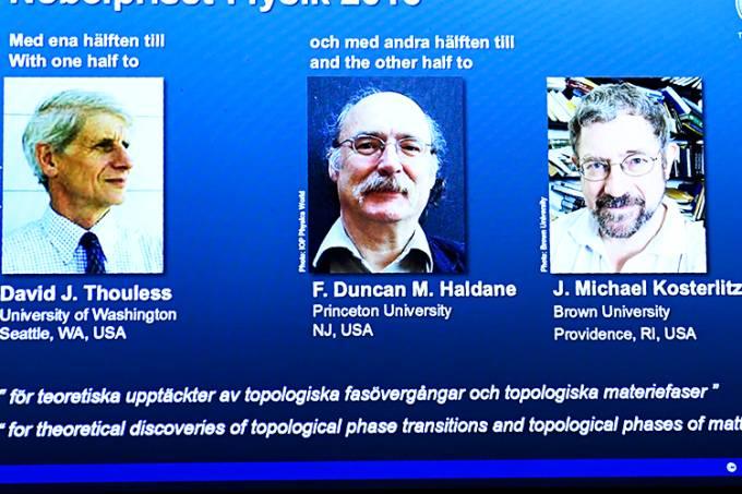 Os vencedores do Nobel de Física de 2016
