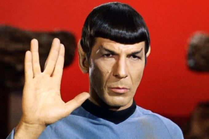 Spock (Leonard Nimoy), no seriado Star Trek