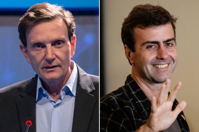 Marcelo Crivella (PRB) e Marcelo Freixo (PSOL)