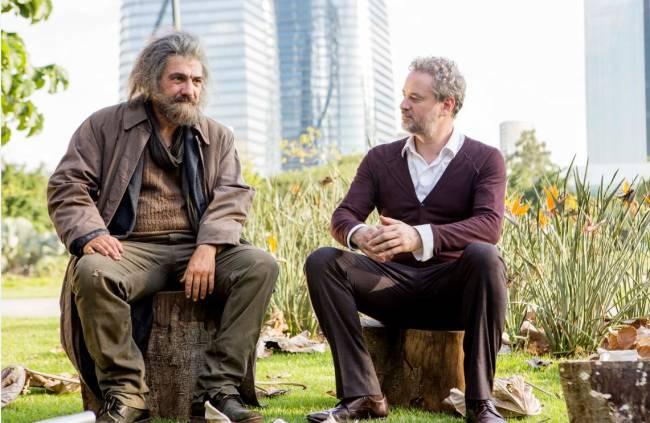 César Troncoso e Dan Stulbach em cena de 'O Vendedor de Sonhos'