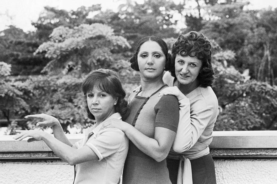 """Dirce Migliaccio, Dorinha Duval e Ida Gomes na novela """"O Bem-Amado"""""""