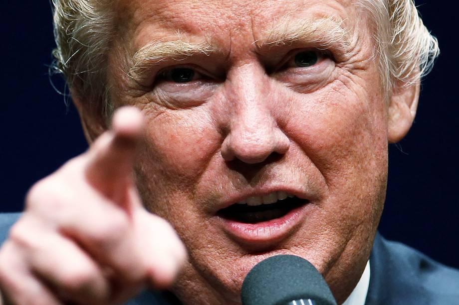 O candidato republicano à Presidência dos EUA, Donald Trump, discursa durante um evento de campanha na capital Washington - 26-10-2016