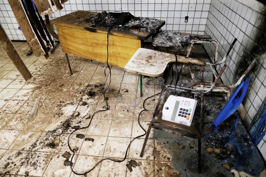 Urna eletrônica é destruída em seção eleitoral de São Luís (MA) - 02/10/2016