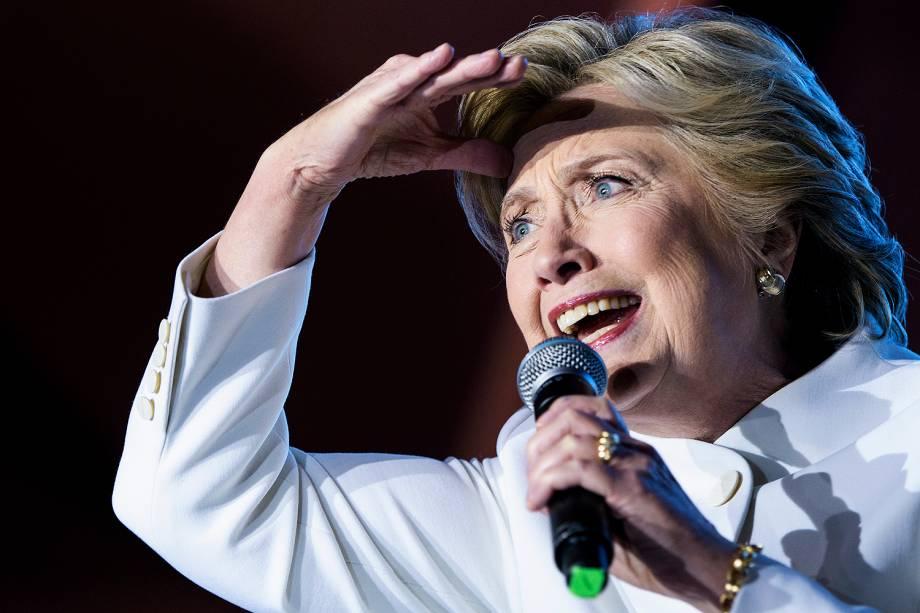 A candidata democrata à Presidência dos EUA, Hillary Clinton, durante debate com o republicano Donald Trump, em Las Vegas
