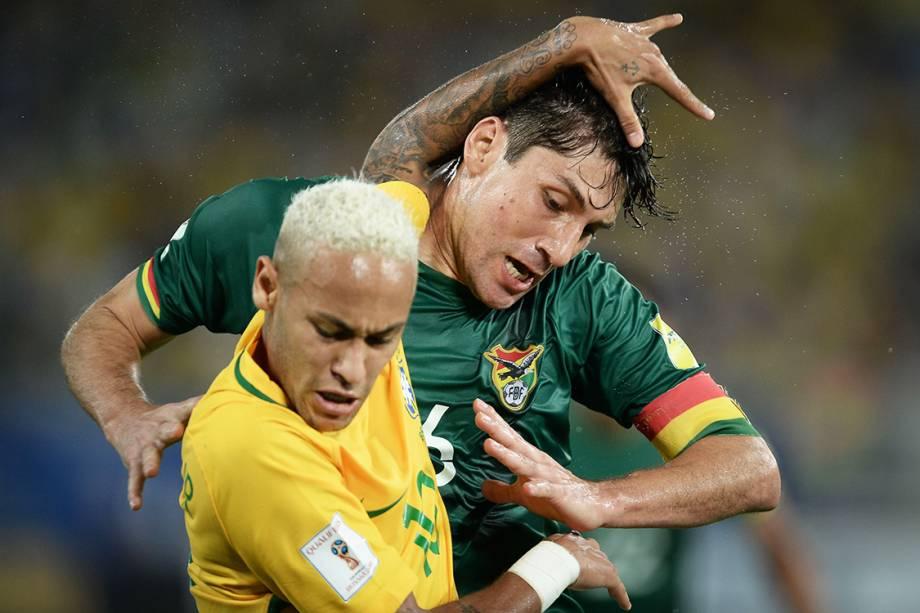 Neymar durante o jogo contra a Bolivia pelas eliminatorias, na Arena das Dunas em Natal