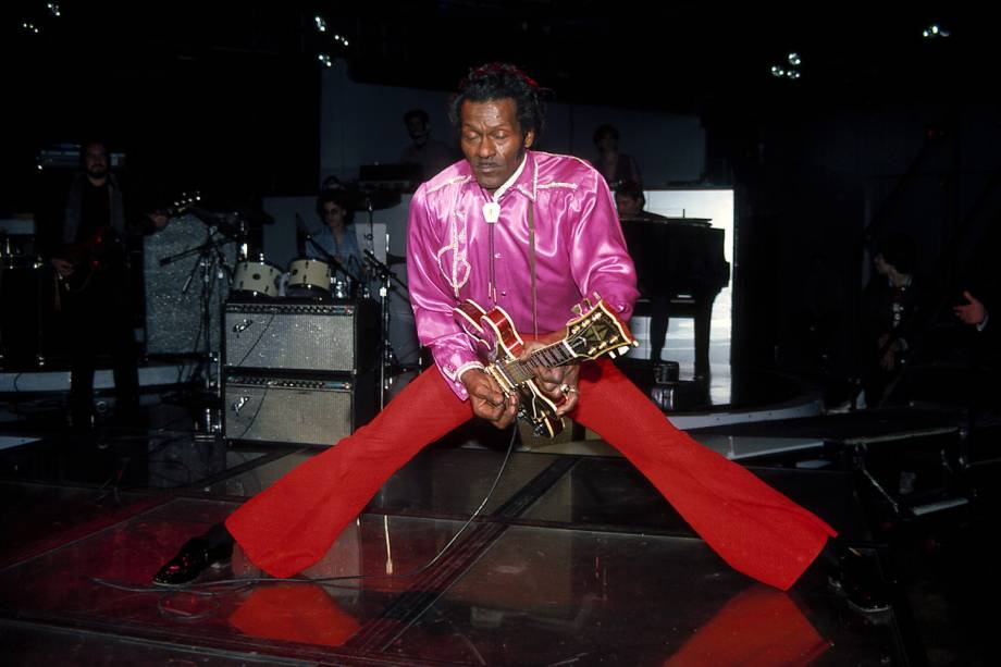 O guitarrista Chuck Berry - 04/01/1983