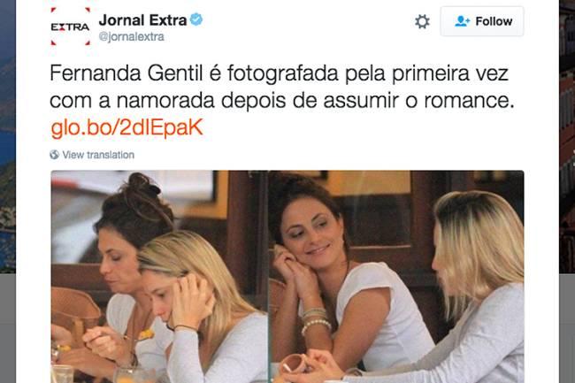Fernanda Gentil é vista com namorada pela primeira vez