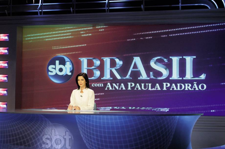 "Ana Paula Padrão, apresentadora do telejornal ""SBT Brasil"". - 2005"
