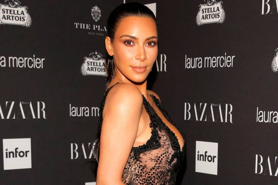 Kim Kardashian durante a Semana de Moda de Nova York - 09/09/2016