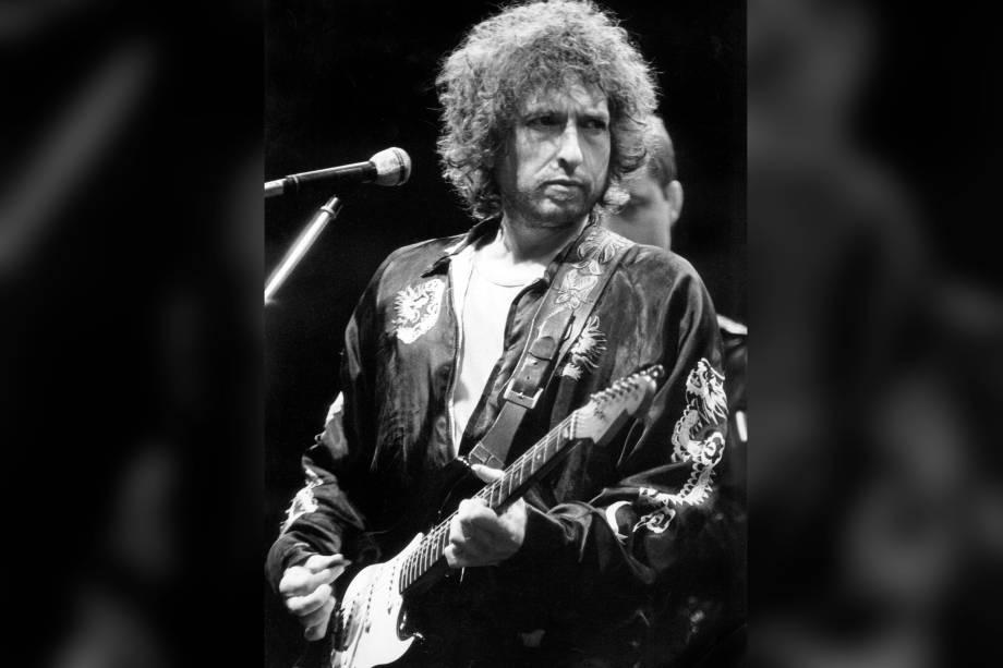 Bob Dylan durante apresentação em Munique, na Alemanha em 1981