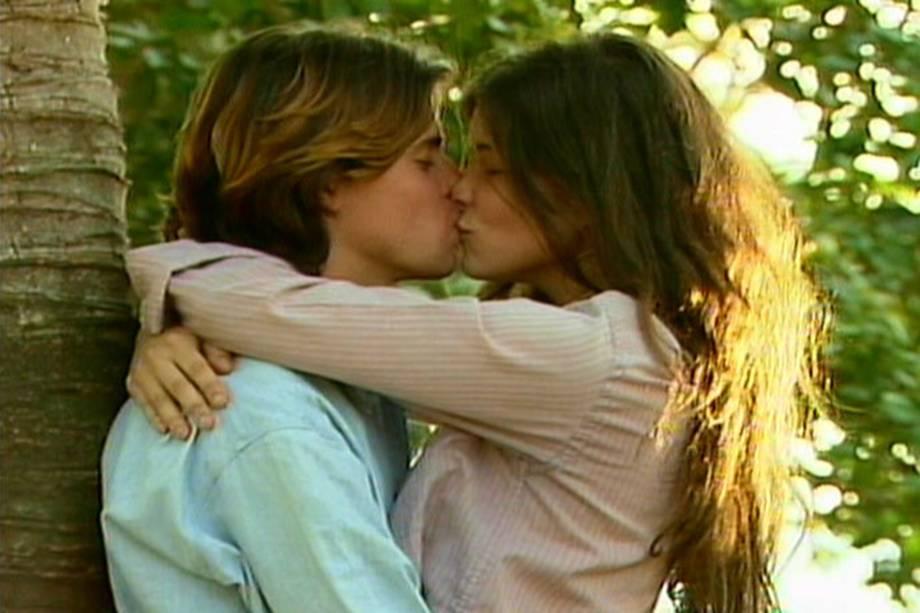 Marcos Winter e Cristiana Oliveira na novela 'Pantanal', da Rede Manchete