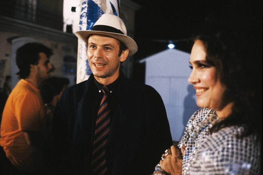 José Wilker e Regina Duarte na novela 'Roque Santeiro', da Rede Globo