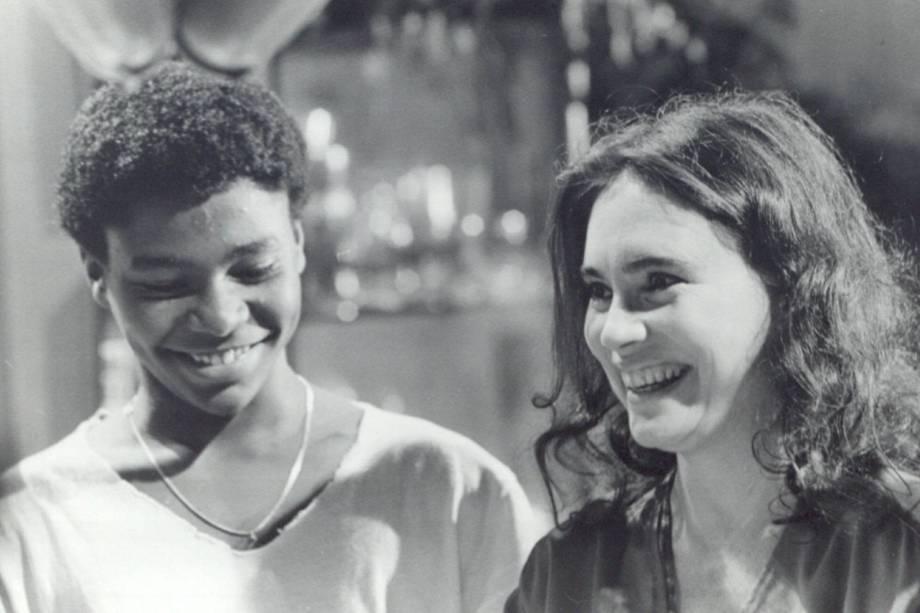 """Fernando Almeida e Regina Duarte na novela """"Vale Tudo"""", da Rede Globo."""