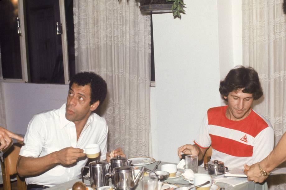 Carlos Alberto Torres e Zico - 1983
